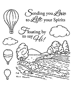 Nancy Baier Balloon Flight Clear Stamp Set 11109SC