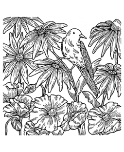 Bird Background Cling Mount Stamp CLB-001
