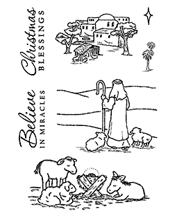 Born In Bethlehem Clear Stamp Set 11208MC