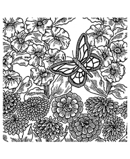 Butterfly Background Cling Mount Stamp CLB-002