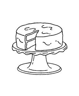 Cake on Stand Wood Mount Stamp H1-0534F