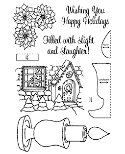 Nancy Baier Christmas Candle Clear Stamp Set 11121MC