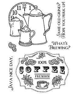 Coffee Time Clear Stamp Set 11145MC