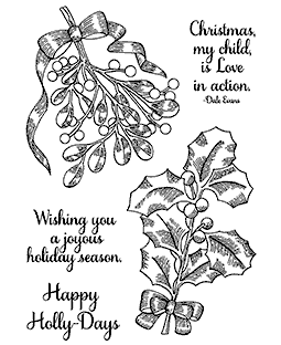 Christmas Greenery Clear Stamp Set 11261MC