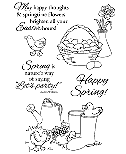 Nancy Baier Ducks & Daffodils Clear Stamp Set 11163MC