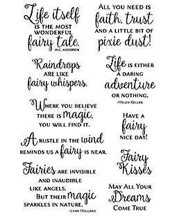 Fairy Sentiments Clear Stamp Set 11311MC