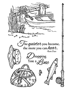 Nancy Baier Fishing Favorites Clear Stamp Set 11112MC