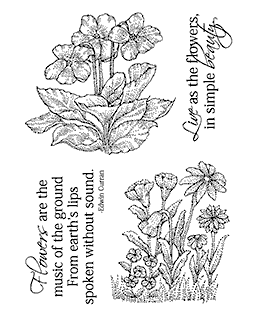 Forest Flowers Clear Stamp Set 11285MC