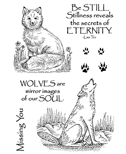 Fox & Wolf Clear Stamp Set 11283MC