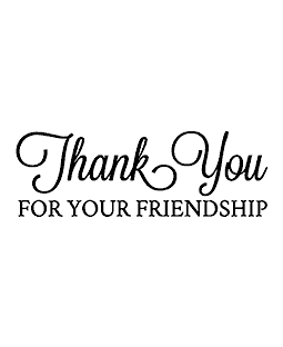 Friendship Thank You Wood Mount Stamp E2-6504E