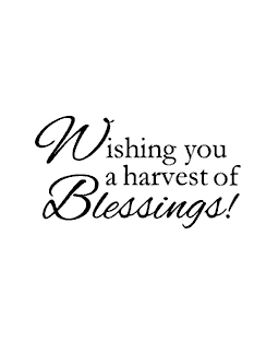 Harvest of Blessings Wood Mount Stamp E2-2853E
