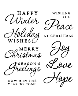 Holiday Sayings Clear Stamp Set 11213SC