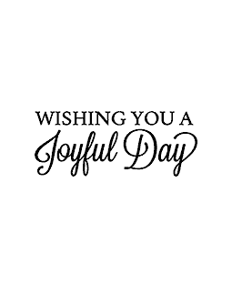 Joyful Day Wood Mount Stamp D4-6003D