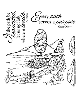 Lakeside Path Clear Stamp Set 11110SC