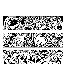 Large Blooms & Butterflies Cling Mount Stamp Set CLS-002