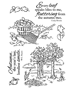 Nancy Baier Leaves & Trees Clear Stamp Set 11131MC