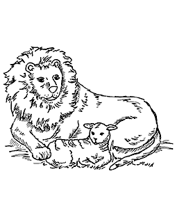 Lion & Lamb Mount Stamp M3-7503J