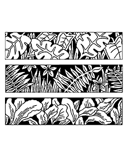 Nancy Baier Lots of Leaves Cling Mount Stamp Set CLS-001
