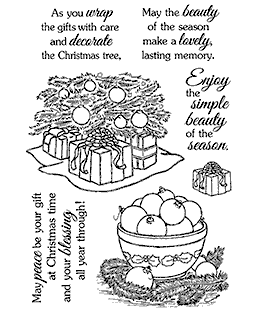 Ornaments & Gifts Clear Stamp Set - 11211MC