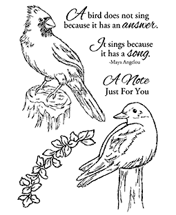 Nancy Baier Perching Birds Clear Stamp Set 11113MC
