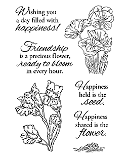 Nancy Baier Poppies & Snapdragons Clear Stamp Set 11164MC