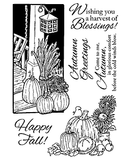 Pumpkin Scenes Clear Stamp Set 11132MC