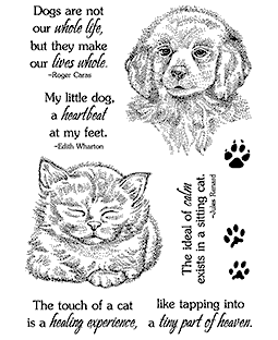 Puppy & Kitten Clear Stamp Set 11282MC