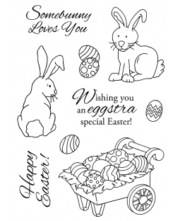 Rabbit & Cart Clear Stamp Set 11165MC