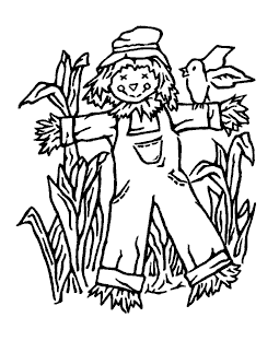 Nancy Baier Scarecrow Wood Mount Stamp K1-2302H