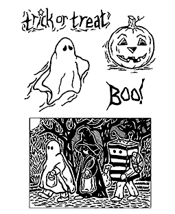 Scary Characters Clear Stamp Set 11198MC