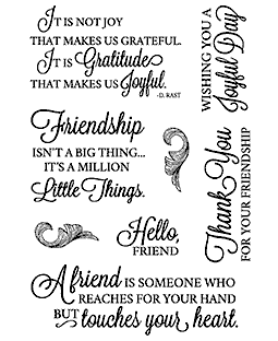 Nancy Baier Script Sentiments #1 Clear Stamp Set 11253MC
