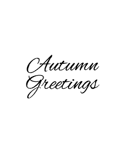 Autumn Greetings Wood Mount Stamp D2-4613D