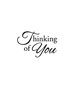 Thinking of You Wood Mount Stamp D2-0787D