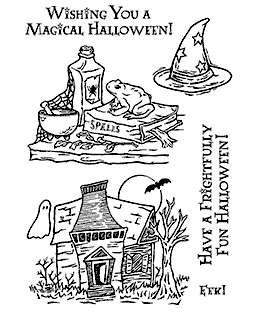 Spooky Spells Clear Stamp Set 11199MC