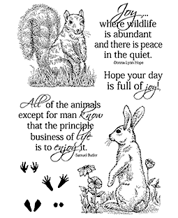 Squirrel & Rabbit Clear Stamp Set 11286MC