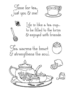 Nancy Baier Tea Time Elements Clear Stamp Set 11147MC