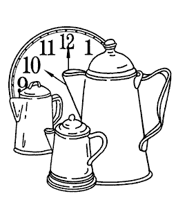 Nancy Baier Time For Coffee Wood Mount Stamp M2-0538J