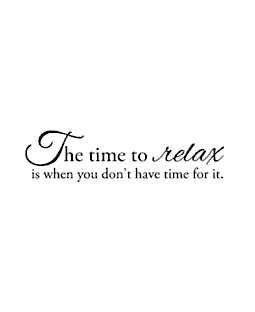 Time To Relax Wood Mount Stamp E3-0528E