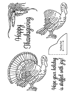 Nancy Baier Turkey Clear Stamp Set 11122MC