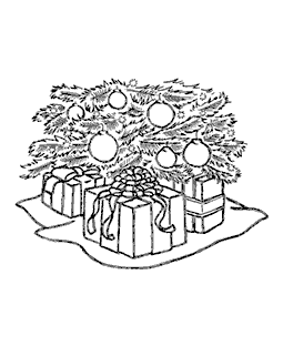 Under The Tree Wood Mount Stamp K2-1575H