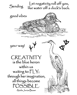 Water Fowl Clear Stamp Set 11284MC