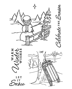 Winter Fun Clear Stamp Set 11212MC