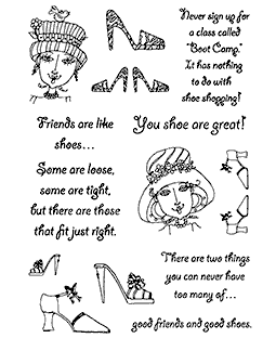Showy Shoes Clear Stamp Set 11296MC