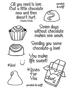 Chocolate Clear Stamp Set 11361MC
