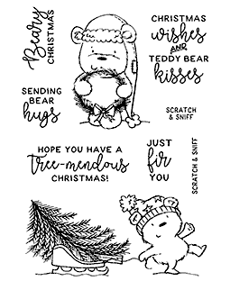 Christmas Pine Bears Clear Stamp Set - 11382MC