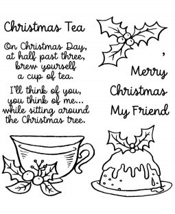 Christmas Tea Clear Stamp Set - 11479SC