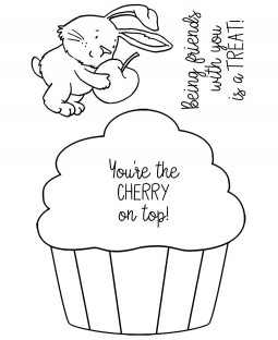 Cupcake Bunny Clear Stamp Set - 11460MC