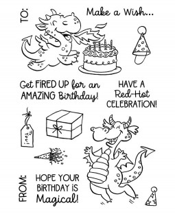 Dragon Birthday Clear Stamp Set 11497MC