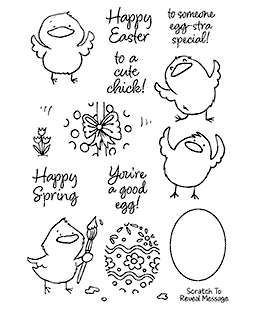 Egg-cellent Chicks Clear Stamp Set - 11399MC