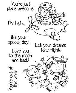 Nicola Storr Flying High Clear Stamp Set - 11328MC